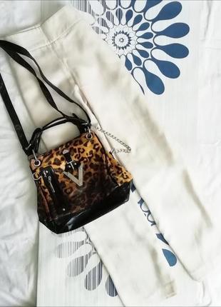 Сумка сумочка среднего размера небольшая в леопардовый принт а...