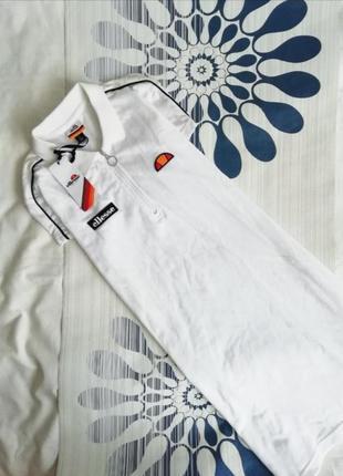 Ellesse платье поло белое с молнией короткое мини сукня біла к...