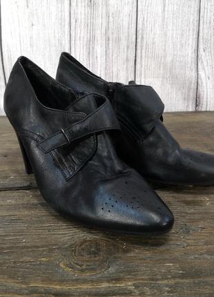 Туфли стильные Soleflex, кожаные, Разм 6 (38, 25 см), Отл сост!