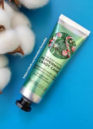 Крем для рук the body shop - peppermint candy cane