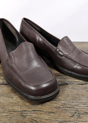 Туфли коричневые Clarks, коричн, Отл сост! (разм, 6, 25.5 см)