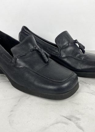 Туфли фирменные кожаные Clarks, удобные, Разм 6 (40, 25.5 см),...