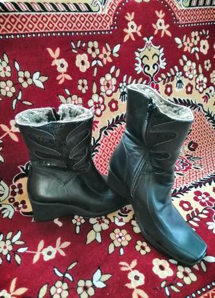 Сапоги кожаные новые зимние, полусапожки, ботинки