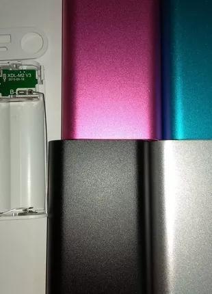 3*18650 Алюміній корпус Павербанк (зарядка) micro USB 5V 1,4A