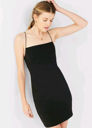 💣Чорна сукня від Urban outfitters на бретелях-резинках