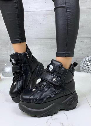 Зимние ботинки в стиле буффало,массивные ботинки на платформе,...