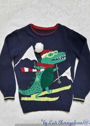 """Новый фирменный nutmeg свитерок с рисунком """"новогодний крокоди..."""