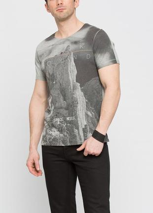 Серая мужская футболка lc waikiki / лс вайкики space, itself