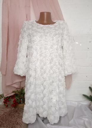 Нарядное белое платье р m/l