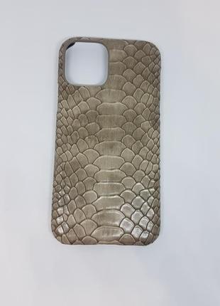 Шикарный чехол для телефона iphone 11 под змеиную кожу