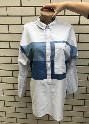 Рубашка с большими карманами под джинс,большой размер, next