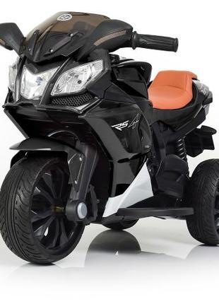 Детский мотоцикл M 3912 EL-2, кожаное сиденье, черный