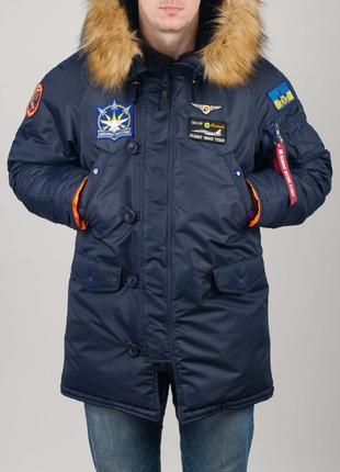 Аляска Olymp з нашивками Ukrainian Falcons - Аляска N-3B, Slim