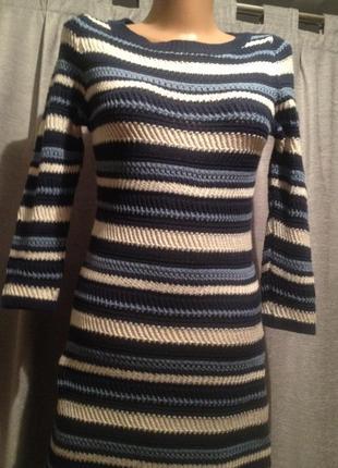 Вязанное платье туника.047