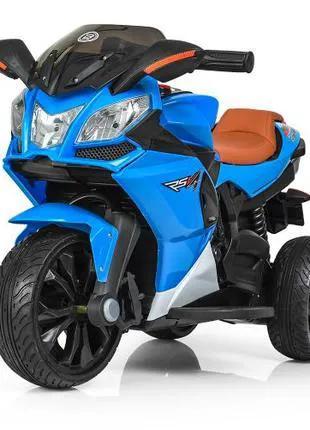 Детский мотоцикл M 3912 EL-4, кожаное сиденье, синий