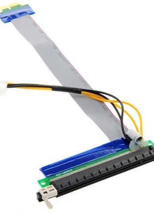 PCI-Express PCI-E 1X на 16X райзер, питание, molex, 101900