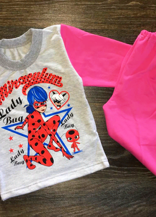 Детская пижама для девочек с леди баг.на байке.