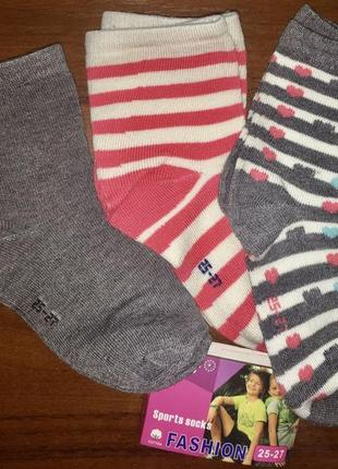 Носки на девочку упаковка из 3-х шт.