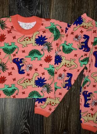 Детская пижама динозавры.микро-начес.