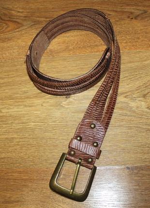 Ремень коричневый кожаный accessorize