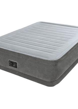 Надувная кровать велюровая Intex 64412 с электронасосом, 191х9...