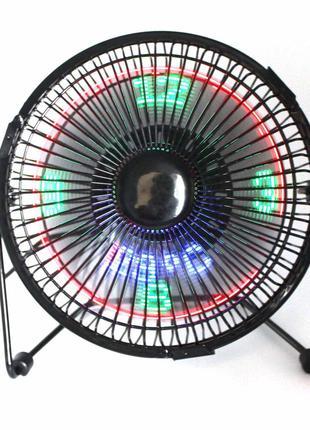 Вентилятор з LED-годинником і термометром Fan D-2991 Black
