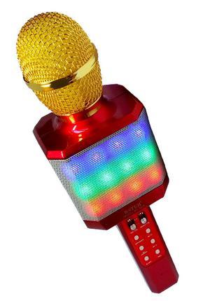 Микрофон-караоке беспроводной Wster WS-1828 5W LED Original кр...