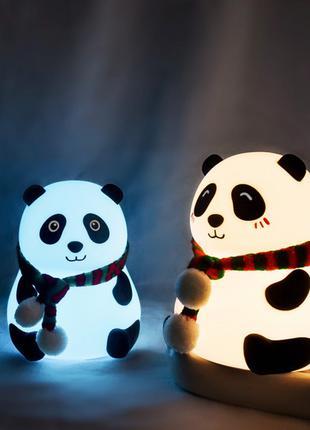 Светильник детский силиконовый Панда