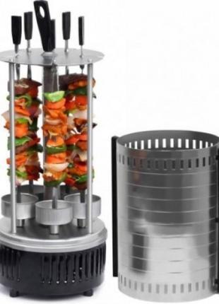 Электрошашлычница для дома Domotec MS5600 на 6 шампуров 1000W