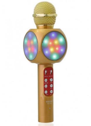 Микрофон-караоке WSTER WS-1816 Золотой