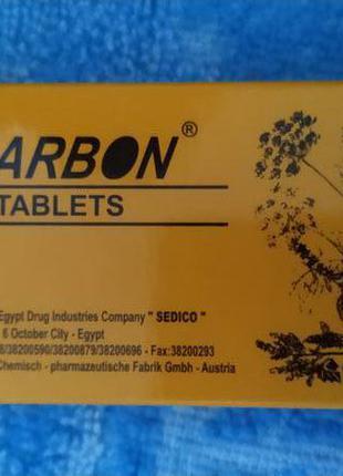 Активированный уголь с сенной и маслом мяты ЭУКАРБОН (Eucarbon),