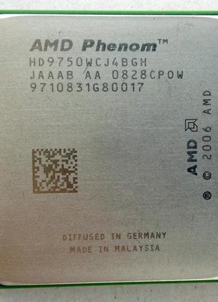 Процессор AMD sAM2, Am2+, PHENOM X4 9750 ( РЕДКАЯ ВЕРСИЯ на 95...