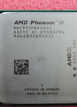 МОЩНЫЙ Процессор AMD SAM3, am2+ PHENOM II X4 955 BLACK EDITION...