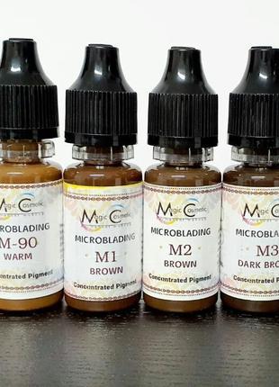 Пигмент для татуажа Пигмент Magic Cosmetic Brown Black M4
