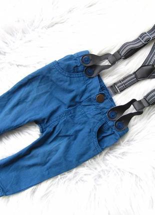 Стильные штаны брюки с подтяжками hullabaloo