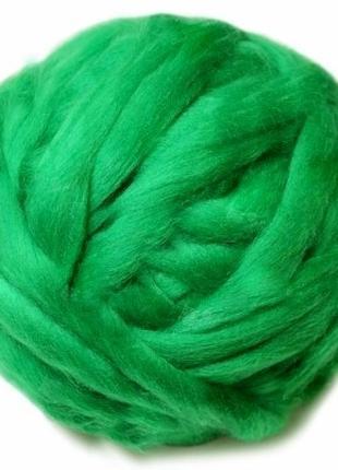 Шерсть мериноса 22 мк, зеленая