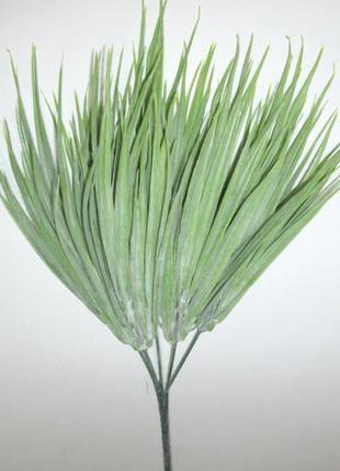Трава искусственная 34 см, серо-зеленая