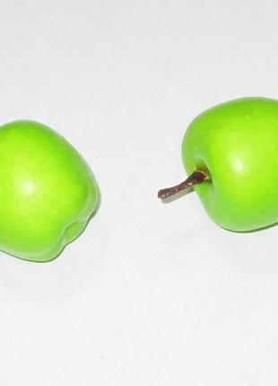 Яблоко искусственное 3,5 см зеленое
