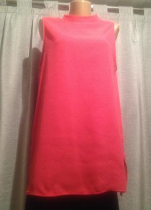 Удлиненная блуза без рукавов.015