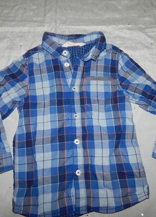 Рубашка модная в клетку на мальчика 3-4 года 104см