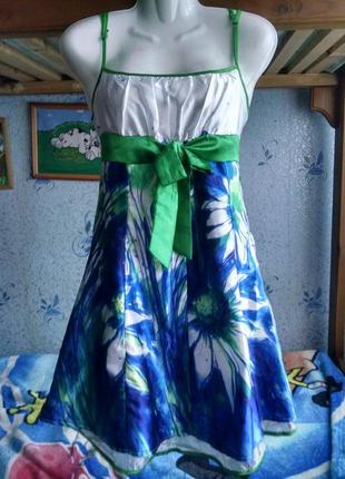 Летнее платье,сарафан в ромашки 44-46р.