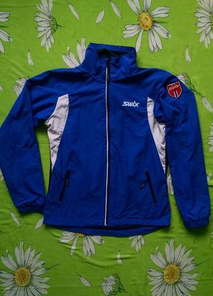 Синяя куртка-ветровка для мальчика 13-14 лет