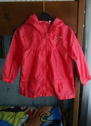 Куртка ветровка,дождевик для девочки 2-3,6 года