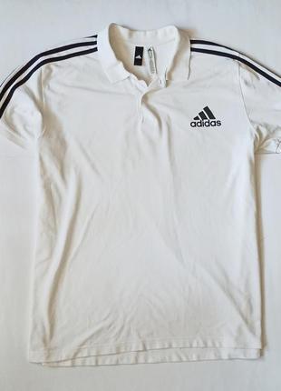Фирменная футболка поло adidas оригинал р. 2xl