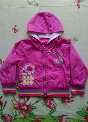 Куртка,ветровка для девочки 2-4 года.