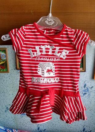 Платье-туника для девочки от 6 месяцев-до 1,6 г