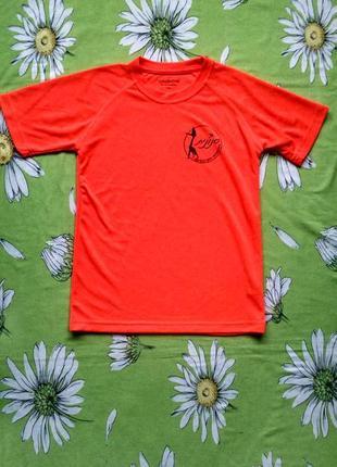 Оранжевая футболка для мальчика 12-14 лет