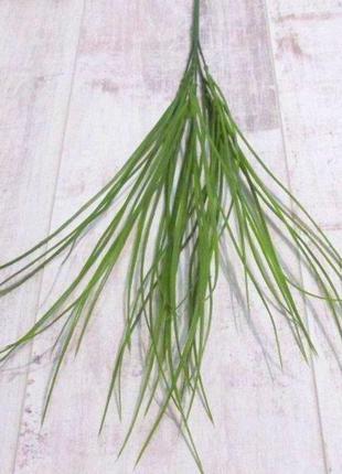 Трава искусственная тонкая 54 см, зеленая