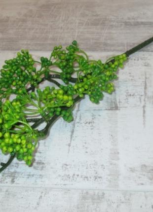 Искусственная ветка с ягодами 51 см, зеленая
