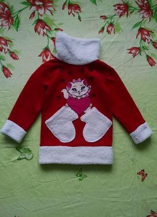 Теплая туника,платье для девочки 3-4 года